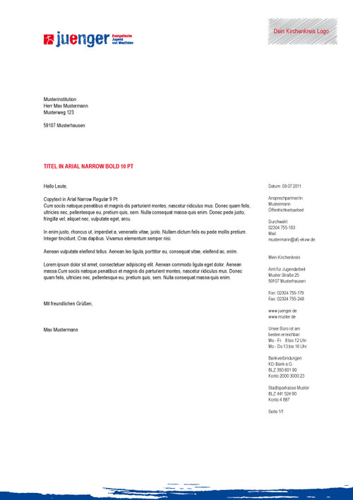 Briefbogen 2 - PROJEKT JUENGER